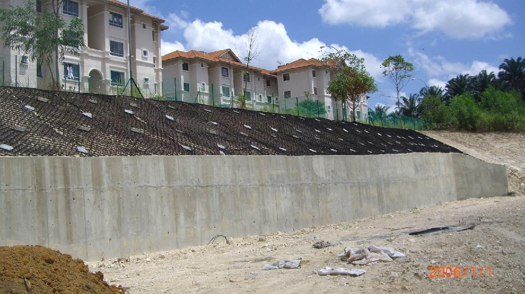 Slope Rehabilitation Works Geocell Cellular confinement system